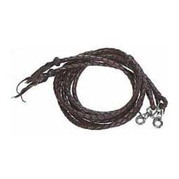 Round Braided Leather Spilt Horse Reins Weaver Leather