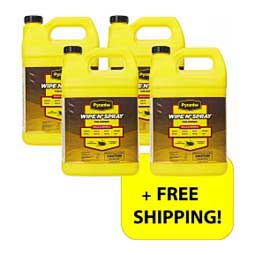 Pyranha Wipe N' Spray Fly Spray 4-gallon Multipack for Horses Item # 32443