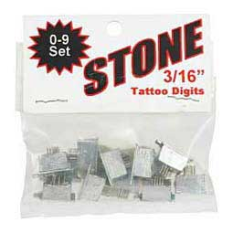 "Livestock Tattoo Digit Set 3/16"" 0-9 Item # 36906"