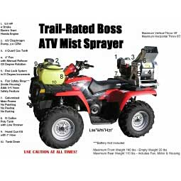 Trail-Rated Boss ATV Mist Sprayer Item # 39133