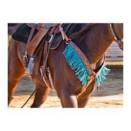 Turquoise Buckstitch Horse Breast Collar Oxbow Tack