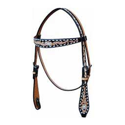 Black Buckstitch Browband Horse Headstall Oxbow Tack