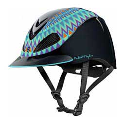 Fallon Taylor Barrel Racing Horse Riding Helmet Turquoise Aztec Troxel