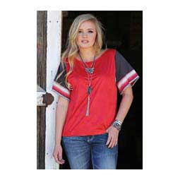 Womens Faux Suede Top