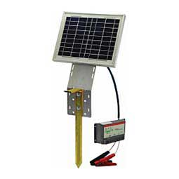10-watt Solar Panel Kit With Ground Stake Powerfields