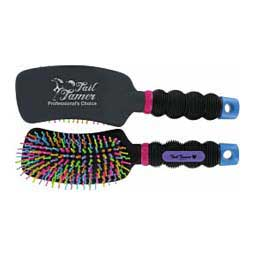 Curved Handle Rainbow Horse Grooming Brush Item # 43628