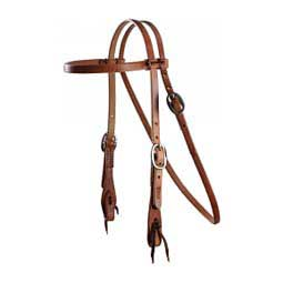"5/8"" Cowboy Laced Browband Horse Headstall w/ Stainless Steel Hardware Professional's Choice"