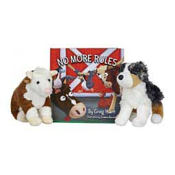 No More Rules Book with Plush Toys Big Sway and Hereford Bull Children's Set Item # 46611