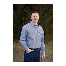 Denim Mens Work Shirt-Chambray Wrangler