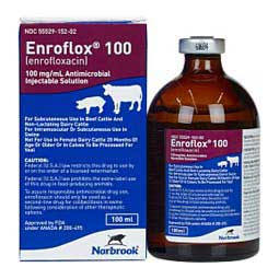 Enroflox 100 Injection for Beef Cattle, Non-Lactating Dairy Cattle & Swine