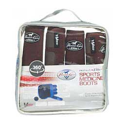 SMB VenTech Elite Support Horse Boots Value Pack  - Chocolate Professional's Choice