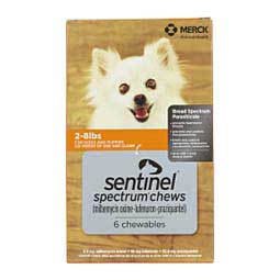 Sentinel Spectrum Heartworm and Flea Prevention Chewables for Dogs Virbac