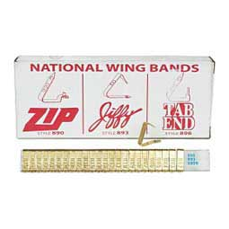 Brass Wing Band Animal Ear Tags National Band & Tag