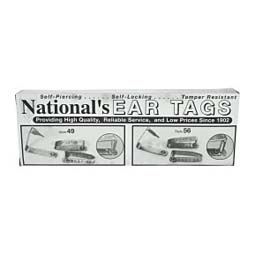 Metal Cattle ID Ear Tags National Band & Tag