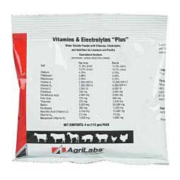 Vitamins & Electrolytes ''Plus'' for Livestock and Poultry  AgriLabs