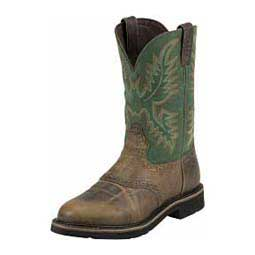 "Mens Stampede Collection 11"" Cowboy Work Boots Justin Boot Company"