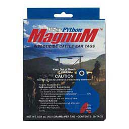Python Magnum Insecticide Cattle Ear Tags Y-Tex