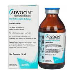 Advocin (danofloxacin injection) Antimicrobial for Beef Cattle Zoetis Animal Health