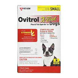 Ovitrol X-Tend Flea and Tick Spot On for Dogs Veterinary Products Labs