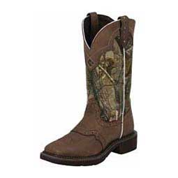 """Gypsy Saddle Vamp Square Toe 12"""" Cowgirl Boots  Justin"""