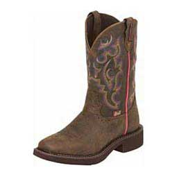 "Gypsy Waterproof Broad Square Toe 11"" Cowgirl Boots Justin"