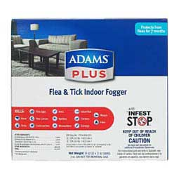Adams Plus Flea and Tick Indoor Fogger  Farnam
