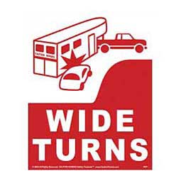WIDE TURNS Reflective Sign
