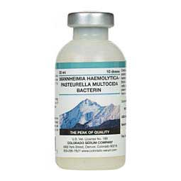 Mannheimia Haemolytica Pasteurella Multocida Bacterin Cattle, Goat & Sheep Vaccine Colorado Serum