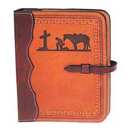 Western Style Tooled Leather Bible Cover K BAR J Leather