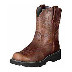 "Womens Fatbaby Saddle 8"" Cowgirl Boots Ariat Boots & Apparel"