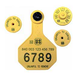 840 USDA FDX EID Ear Tags + Med Numbered Matched Set Y-Tex