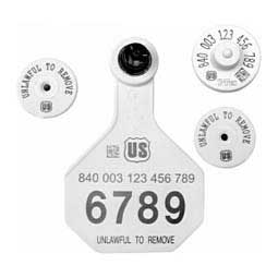 840 USDA HDX EID Ear Tags + Med Numbered Matched Set  Y-Tex