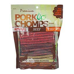 Pork Chomps Assorted Munchy Sticks Dog Treat Chews