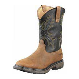 "Mens Workhog Wide H2O Square Toe 11"" Cowboy Boots Ariat Boots & Apparel"