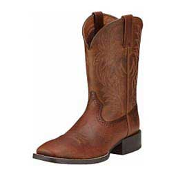 """Sport Western Wide Square Toe 11"""" Cowboy Boots Ariat"""