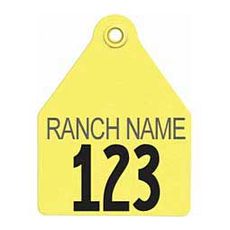 Numbered w/ Free ID Large Calf ID Ear Tags