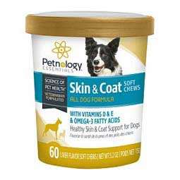 Healthy Skin & Coat Soft Chews for Dogs Petnology Essenetials
