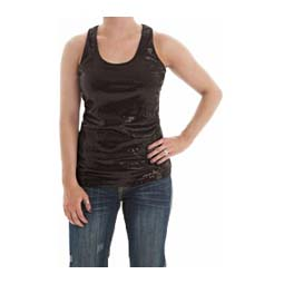 Ladies Jersey Tank W/Sequins Cowgirl Tuff Co