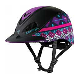 Fallon Taylor Horse Riding Helmet  - Purple Geo Troxel