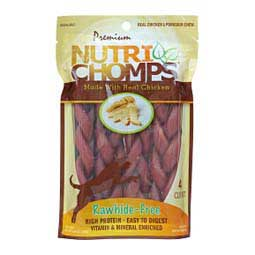 "Nutri Chomps 6"" Flavor Braid Rawhide-Free Dog Chews  Scott Pet"