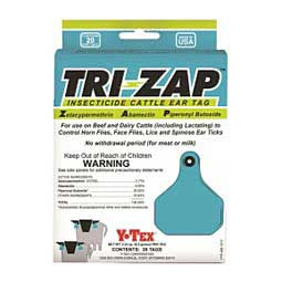 Tri-Zap Insecticide Cattle Ear Tags Y-Tex