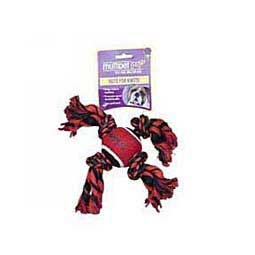 """Nuts for Knots 4-Knot """"X"""" Rope with Tennis Ball Dog Toy Multipet"""