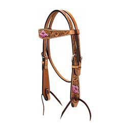 Pony Floral Carved w/Pink Flowers Tack Set Weaver Leather