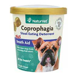 Coprophagia Stool Eating Deterrent Plus Breath Aid Soft Chews for Dogs NaturVet
