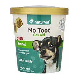 No Toot Gas Aid Soft Chews for Dogs NaturVet