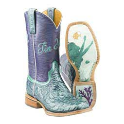 "Under the Sea 11"" Cowgirl Boots Tin Haul"