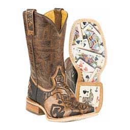 "The Gambler 11"" Cowboy Boots Tin Haul"