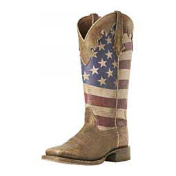 "Ranchero Stars and Stripes 12"" Cowgirl Boots Ariat"