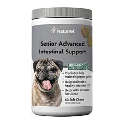 Senior Advanced Intestinal Support Soft Chew for Dogs  NaturVet