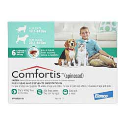 Comfortis Flea Treament Dogs & Cats Dog 20-40 lbs Cat 12-24 lbs 6 ct - Item # 1105RX